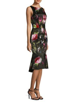 Printed Sleeveless Midi Dress
