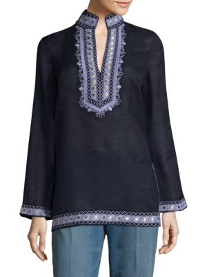 Tory Long-Sleeve Tunic by Tory Burch