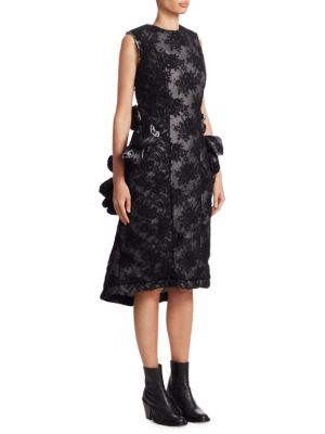 Padded Floral Lace Dress