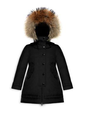 Little Girl's & Girl's Yolande Fur-Trimmed Hooded Jacket