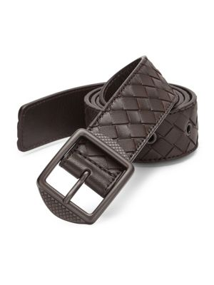 Patterned Leather Casual Belt