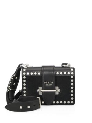 Bandoliera Studded Calf Hair & Leather Shoulder Bag