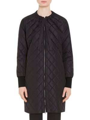 Long Quilted Nylon Coat 0400095075375