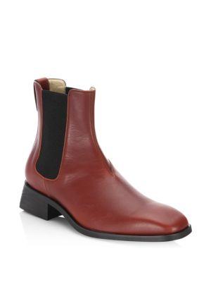 Stella McCartney皮质切尔西靴子