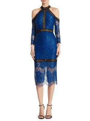 Marlowe Lace Cold Shoulder Dress