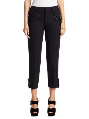Embellished Wool Pants