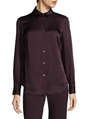 Collared Button Front Shirt