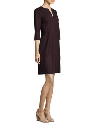 Elbow Sleeve Wool Dress