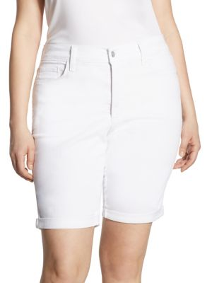 Briella Rolled Cuff Denim Bermuda Shorts