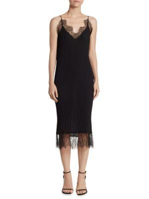 Claire Lace-Trim Slip Dress