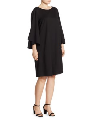 Fabiana Jewel Neck Bell Sleeve Dress