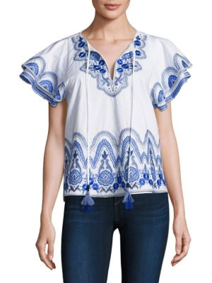 Janis Embroidered Top