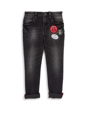Toddler's, Little Boy's and Boy's Faded Effect Denim Trousers