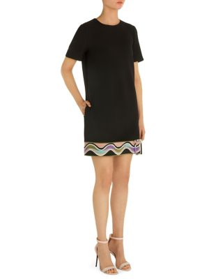 Short Sleeve Belted Dress