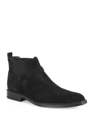 Harness Suede Chelsea Boots