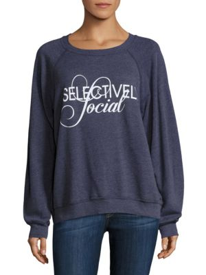 Selectively Social Sommers Sweatshirt by Wildfox