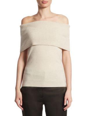 Aflina Cashmere Off-The-Shoulder Top
