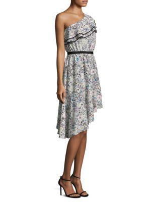 Contour Asymmetrical Floral Dress