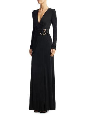 Faux-Wrap Gown