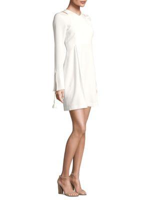 Asymmetrical Bell-Sleeve Dress
