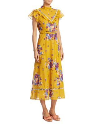 Daisy Bouquet Western Fit-&-Flare Dress
