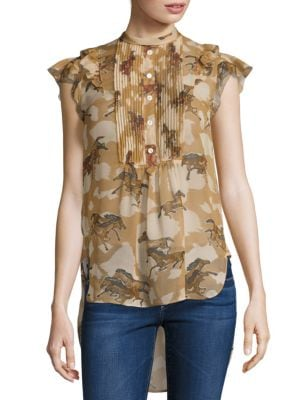 Horse Print Blouse by COACH