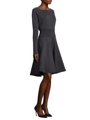 Wool Fit & Flare Dress