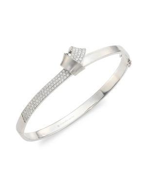 Knot Diamond & 18K White Gold Bangle