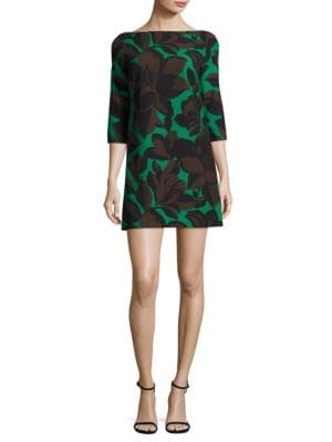 Floral Printed Cady Twiggy Dress