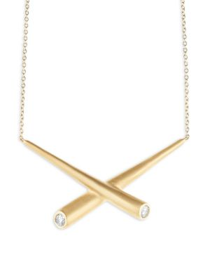 Whirl Diamond & 18K Yellow Gold Collar Necklace