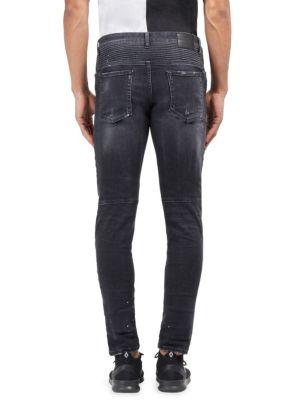 Ain Slim-Fit Biker Jeans