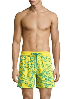 Sea Life Print Swim Shorts