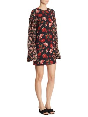 Francis Floral Bell Sleeve Dress