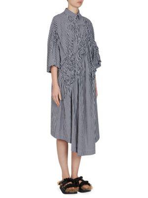 Gingham Floral Shirt Dress