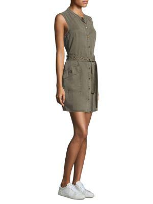 Olivine Button-Down Dress