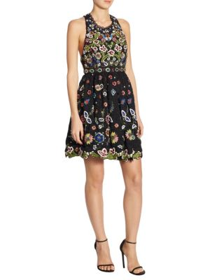 Buy Alice + Olivia Talulah Embroidered Mini Dress online with Australia wide shipping