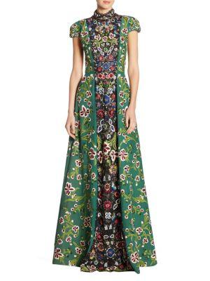 Nidia Embellished Floor-Length Gown