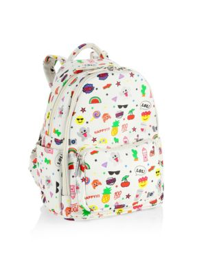 Emoji Print Backpack