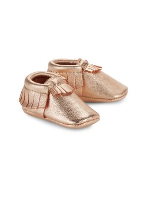 Baby's Signature Core Leather Cutout Moccasins