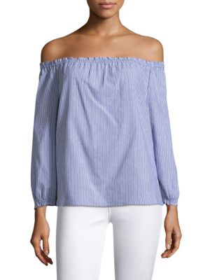Bamboo Poplin Off-the-Shoulder Blouse
