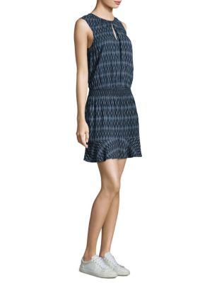Soft Joie Zealana Ikat-Print Flounce Dress