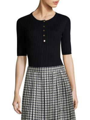 Ribbed Henley by Tory Burch