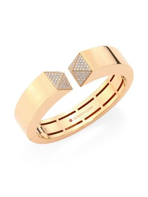 Sauvage Privé Pyramid Pave Diamond & 18K Rose Gold Bangle