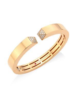 Sauvage Privé Diamond & 18K Rose Gold Bangle