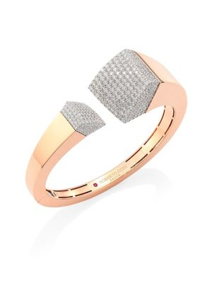 Sauvage Privé Pave Diamond & 18K Rose Gold Bangle