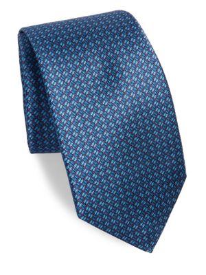 Tiny Line Silk Tie