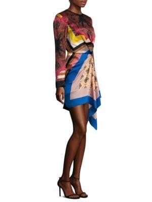 Silk Gathered Dress