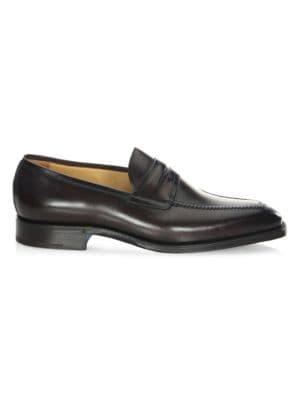 Olimpo Leather Penny Loafers