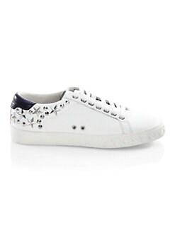 아쉬 데이즈드 별 스니커즈 화이트 ASH Dazed Studded Leather Low-Top Sneakers,White