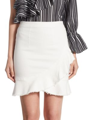 Ruffled Denim Skirt
